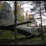 Antonov An-8 at rest in Russian woods.