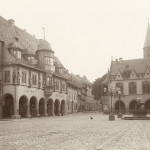 Marktplatz in old town Goslar Germany. 1882
