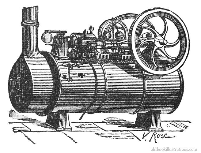 New inventions such as the steam engine was developed to help aid in mechanical works in factories.